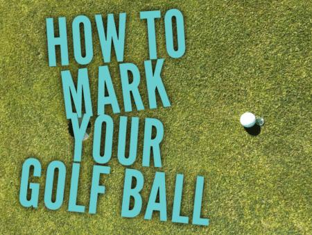 Mark your Golf Ball