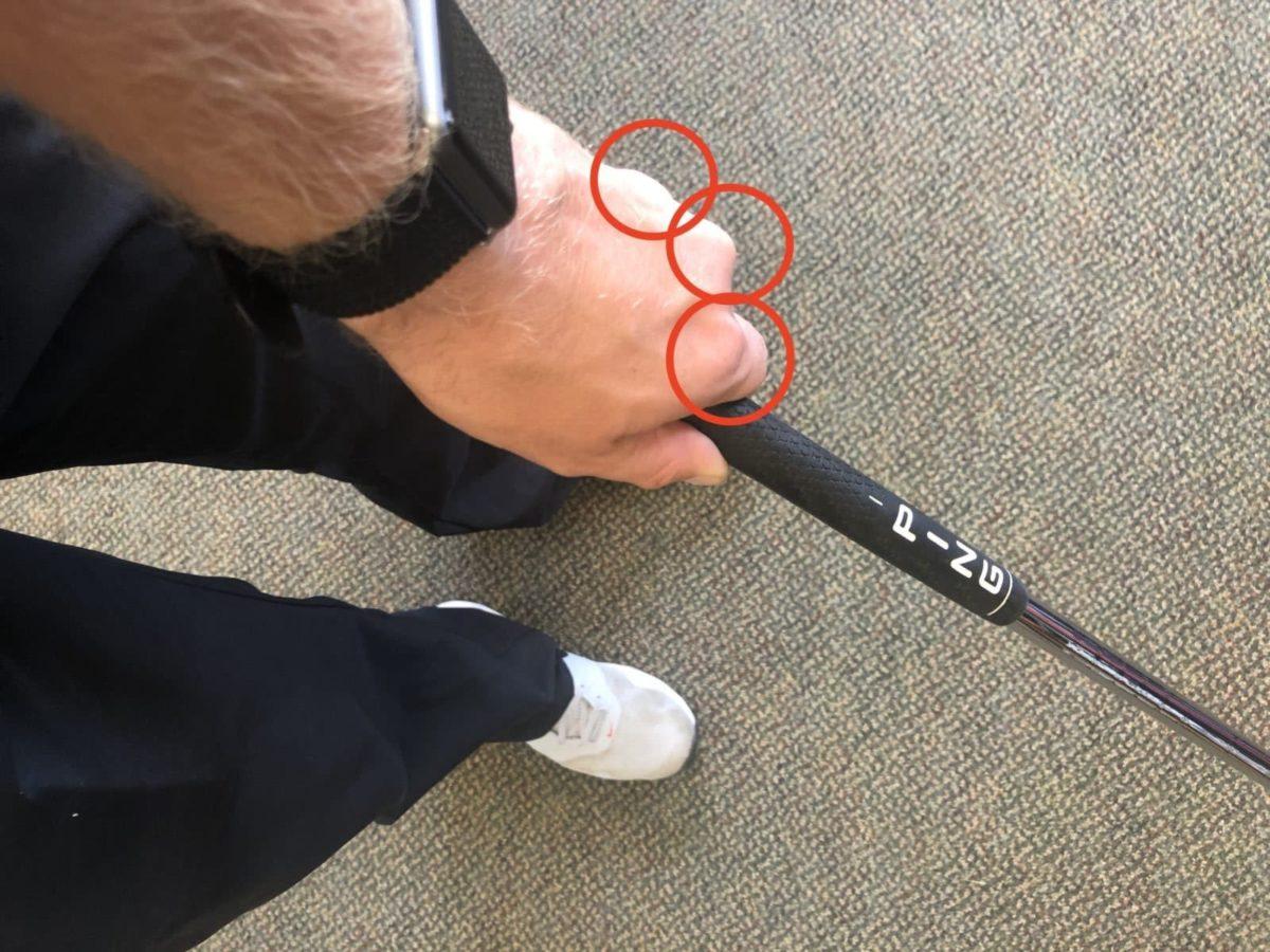 strong golf grip